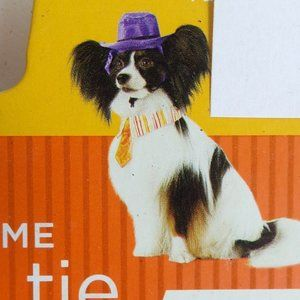 Halloween Dog Costume Hat & Tie Size S  5 - 15 lbs